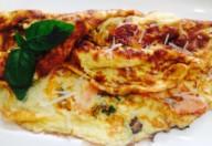omleta somon si gorgonzola