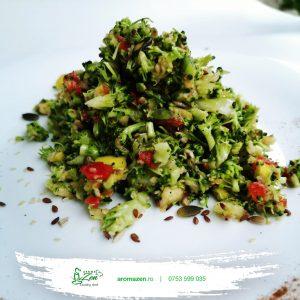 Salata de broccoli cu dressing de mustar si miere de albine (300 gr)