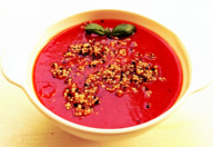 Supa crema rosii quinoa aroma zen