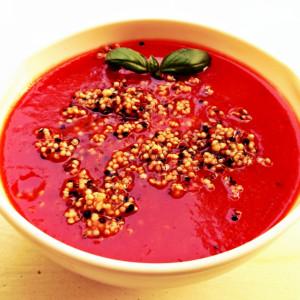 Supa crema rosii quinoa