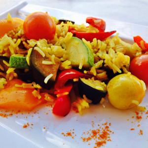 orez basmati cu legume provensale