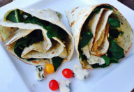tortilla spanac si gorgonzola