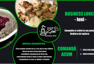 Conopida si cotlet in sos pesto Budinca de tapioca business lunch aroma zen iasi luni s4