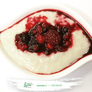 Budincă de tapioca cu ghimbir, lapte vegetal și dulceață AromaZen (de post) - 260 gr